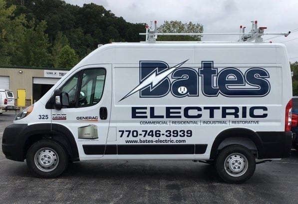 bates electric atlanta electricians truck