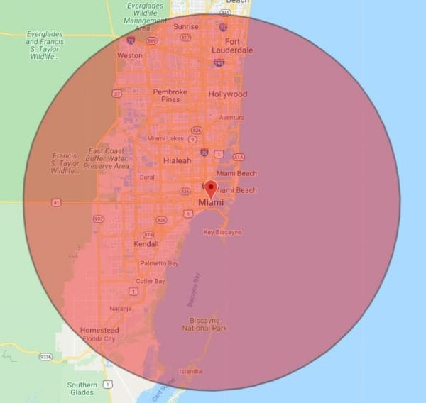 miami electrician service area