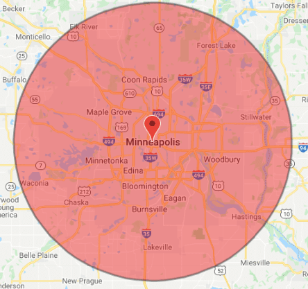 minneapolis electrician service map